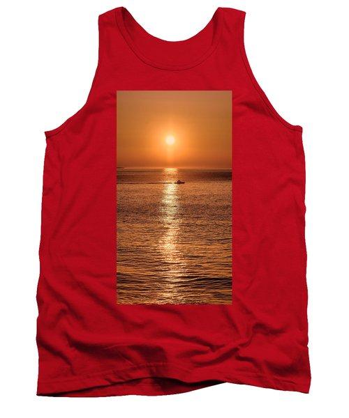 Ocean Sunrise At Montauk Point Tank Top