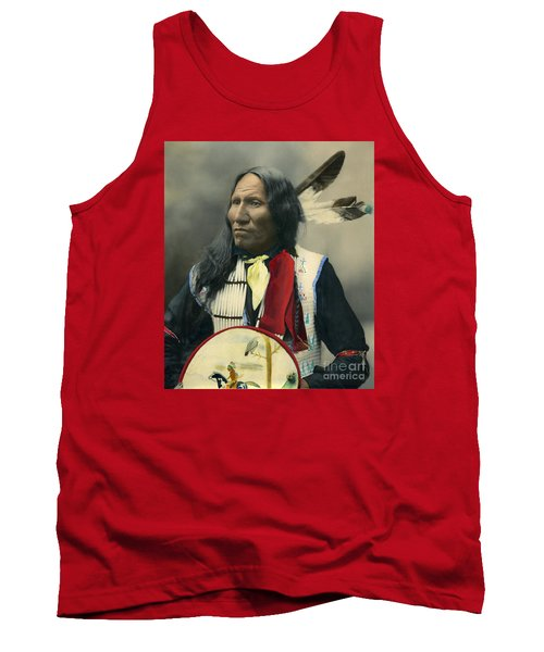 Tank Top featuring the photograph Oglala Chief Strikes With Nose 1899 by Heyn Photo