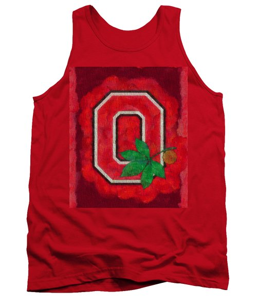Ohio State Buckeyes On Canvas Tank Top by Dan Sproul