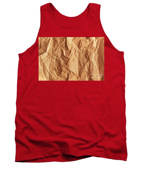 Old Grunge Creased Paper Texture. Retro Vintage Background Tank Top