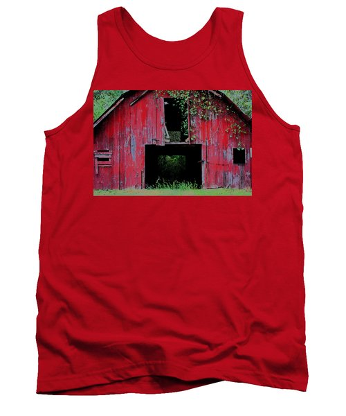 Tank Top featuring the photograph Old Red Barn IIi by Lanita Williams