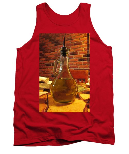 Tank Top featuring the photograph Olive Oil On Table by Cynthia Guinn