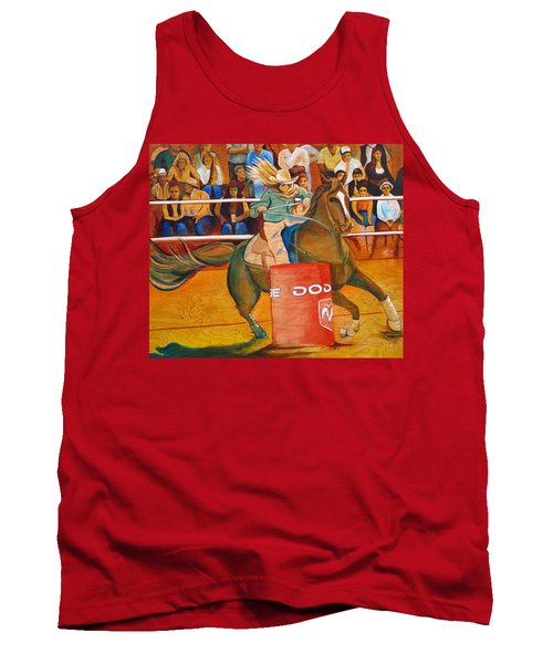 Tank Top featuring the painting On A Dime by Joshua Morton
