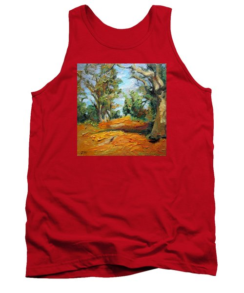 Tank Top featuring the painting On The Forest by Jieming Wang