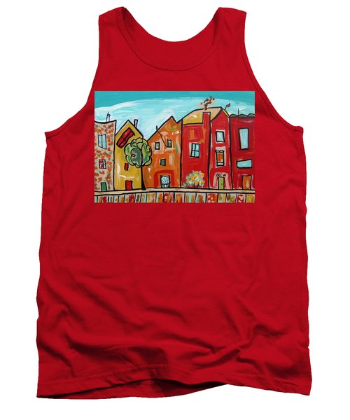 Tank Top featuring the painting One House Has A Screen Door by Mary Carol Williams