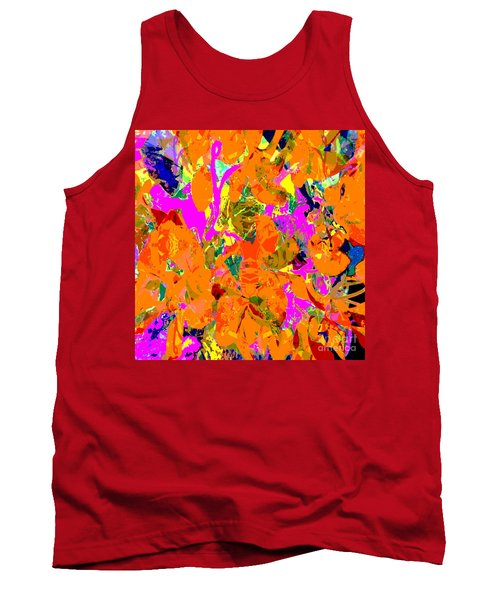 Tank Top featuring the digital art Orange Abstract by Barbara Moignard