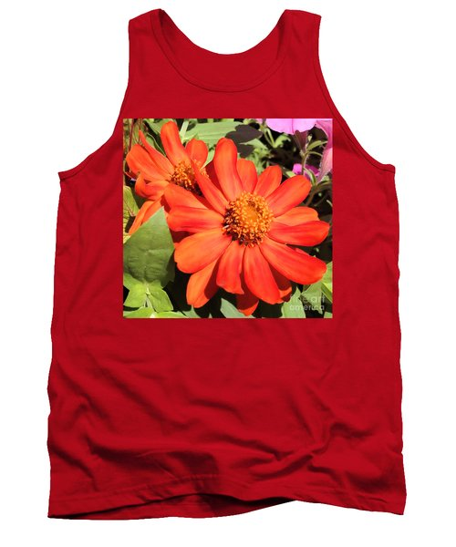Orange Daisy In Summer Tank Top by Luther Fine Art