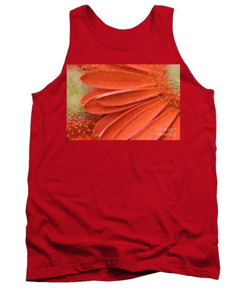 Orange Gerber Daisy Painting Tank Top