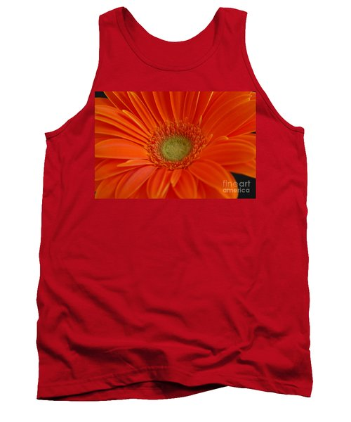 Orange Gerber Daisy Tank Top