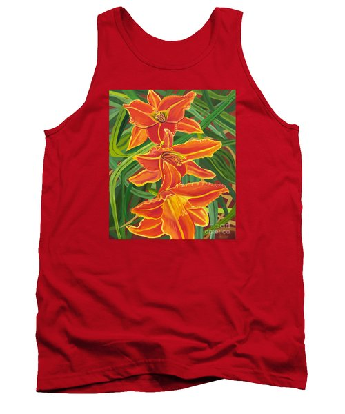 Orange Lilies Tank Top