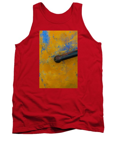 Orange On Blue Tank Top by Edgar Laureano