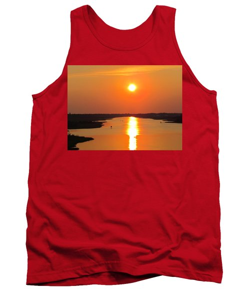 Tank Top featuring the photograph Orange Sunset by Cynthia Guinn