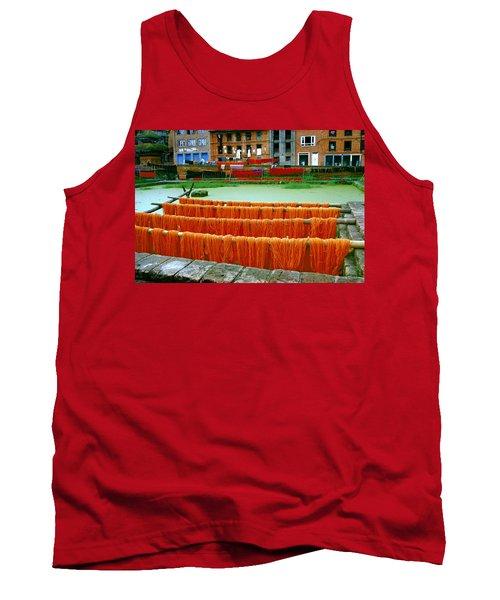 Orange Yarn Tank Top