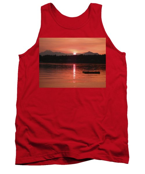 Our Beach At Sunset  Tank Top by Kym Backland