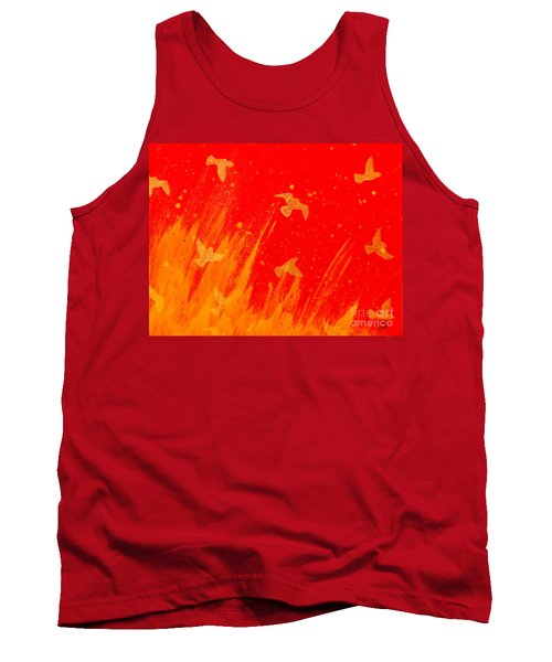 Out Of The Fire Tank Top by Stefanie Forck