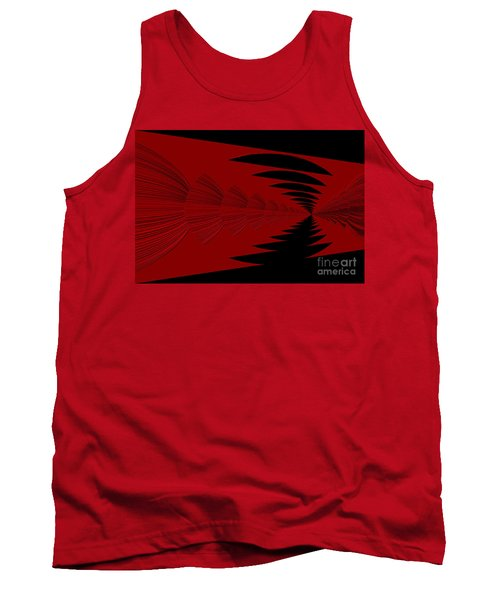 Red And Black Design Tank Top