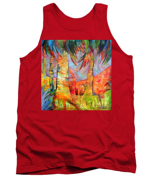 Tank Top featuring the painting Palm Jungle by Elizabeth Fontaine-Barr