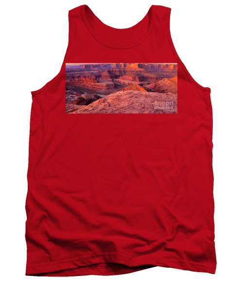 Tank Top featuring the photograph Panorama Sunrise At Dead Horse Point Utah by Dave Welling