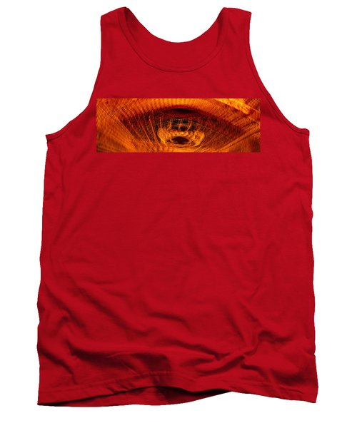 Panoramic View Of Blurry Lights Tank Top