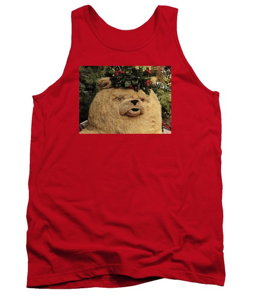 Tank Top featuring the photograph Papa Bear Gets Christmas Spirit by Nadalyn Larsen