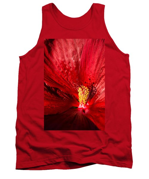 Passionate Ruby Red Silk Tank Top
