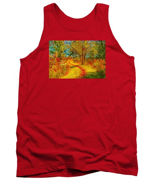Path Through The Woods Tank Top by William Beuther