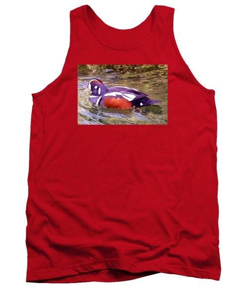 Tank Top featuring the photograph Patriot Duck by Susan Garren