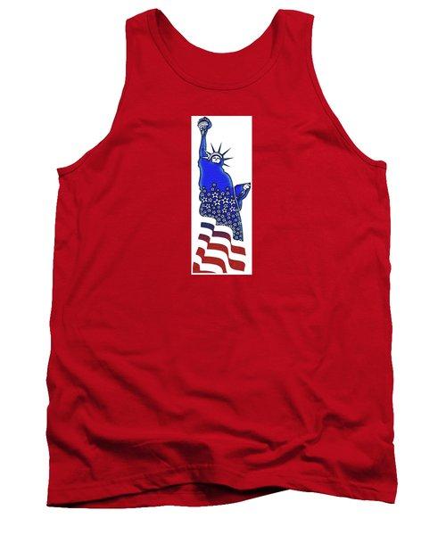 Patriotic Lady Liberty Tank Top