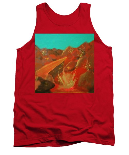 Tank Top featuring the painting Petroglyph Park by Keith Thue