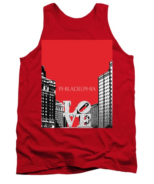 Philadelphia Skyline Love Park - Red Tank Top