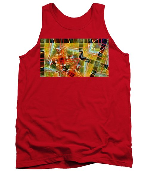 Pick Up Sticks In Geometry Tank Top