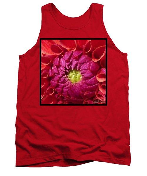 Tank Top featuring the photograph Pink Dahlia Variation by Susan Garren