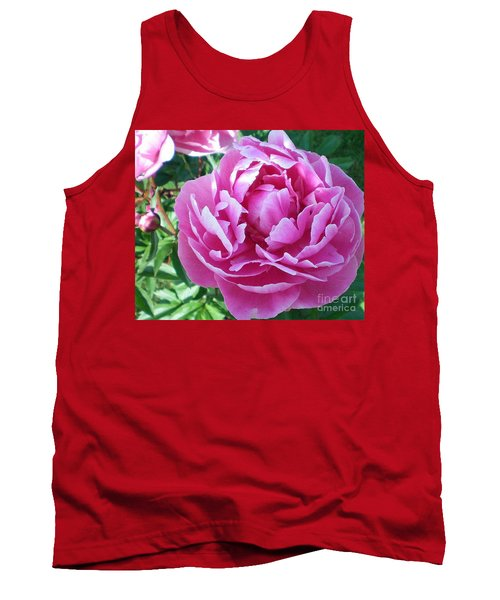 Pink Peony Tank Top by Barbara Griffin