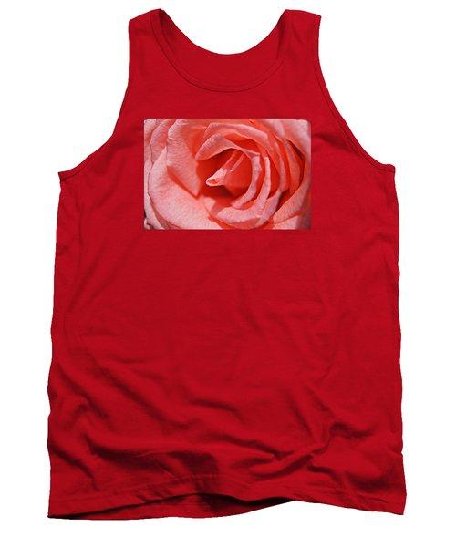 Pink Rose Tank Top by Kathy Churchman