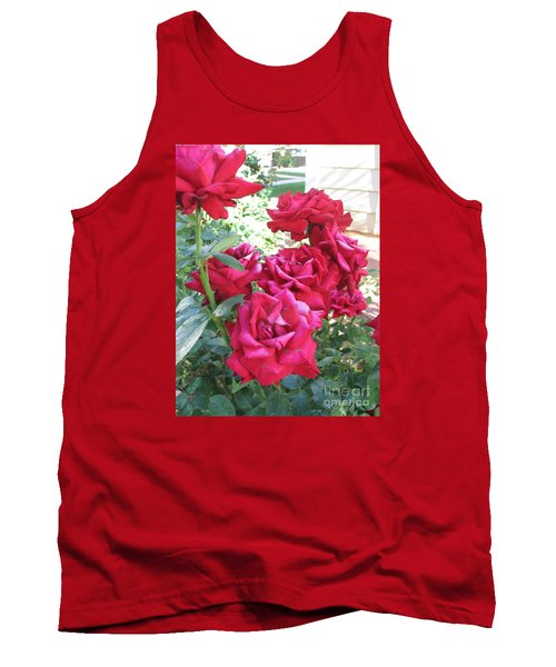 Tank Top featuring the photograph Pink Roses by Chrisann Ellis
