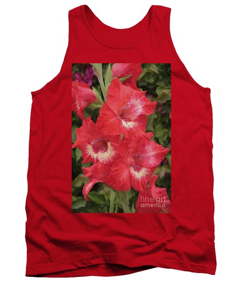 Pink Trumpet Painting In Digital Oil Tank Top