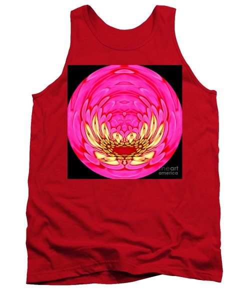 Tank Top featuring the photograph Pink Zinnia Polar Coordinate 2 by Rose Santuci-Sofranko