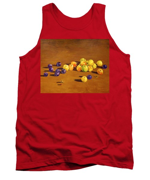 Plums And Apples Still Life Tank Top by Alexandra Maria Ethlyn Cheshire