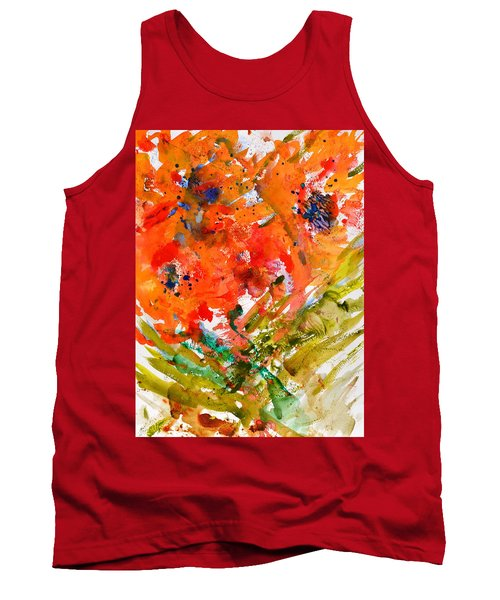 Poppies In A Hurricane Tank Top