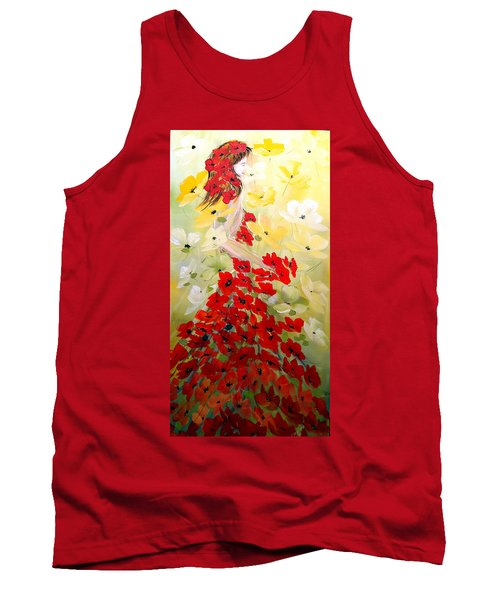 Poppies Lady Tank Top by Dorothy Maier