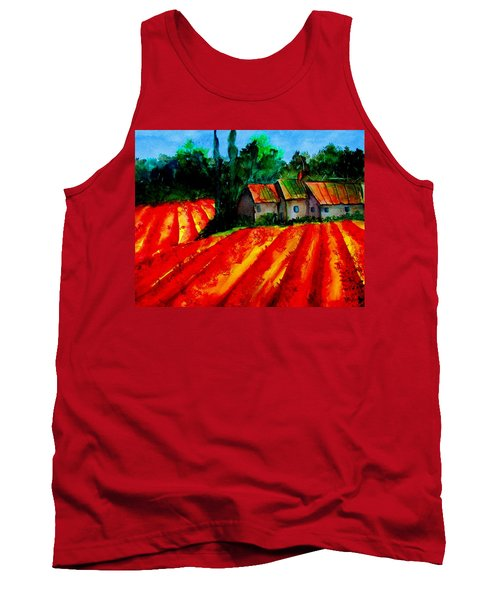 Tank Top featuring the painting Poppy Field  Sold by Lil Taylor