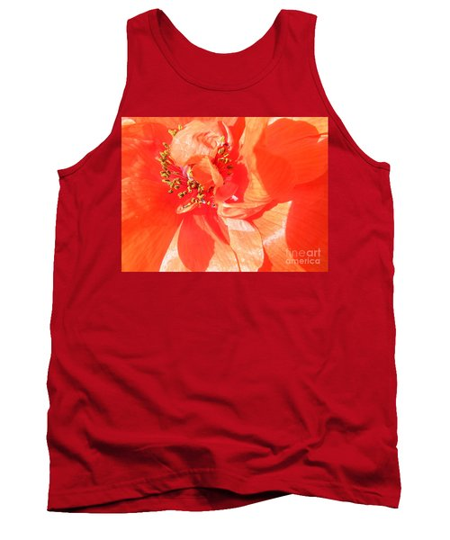 Tank Top featuring the photograph Poppy Palette In Red by Brian Boyle