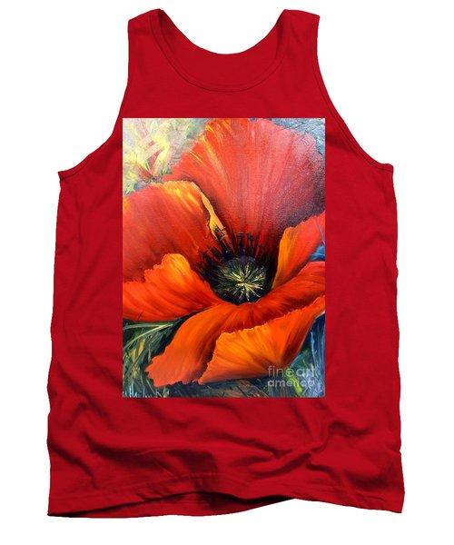 Poppy Red Tank Top