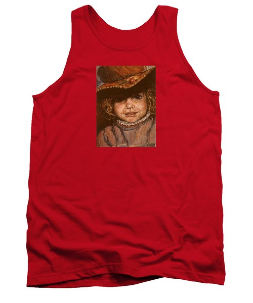 Tank Top featuring the painting Portrait Of Leticia by Walter Casaravilla