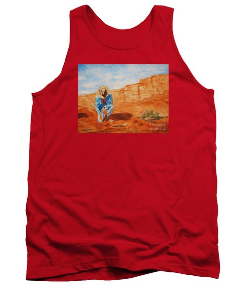 Tank Top featuring the painting Prayer For Earth Mother by Ellen Levinson
