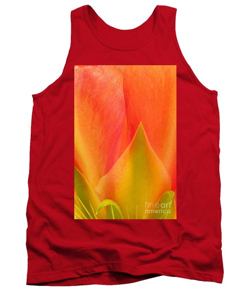 Tank Top featuring the photograph Prickly Pear Flower Petals Opuntia Lindheimeni In Texas by Dave Welling