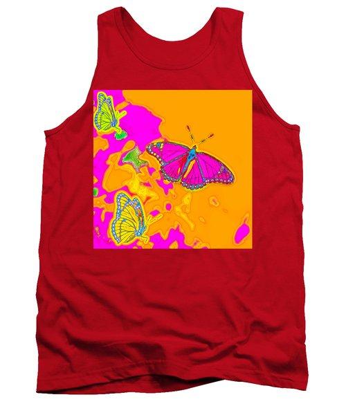 Psychedelic Butterflies Tank Top
