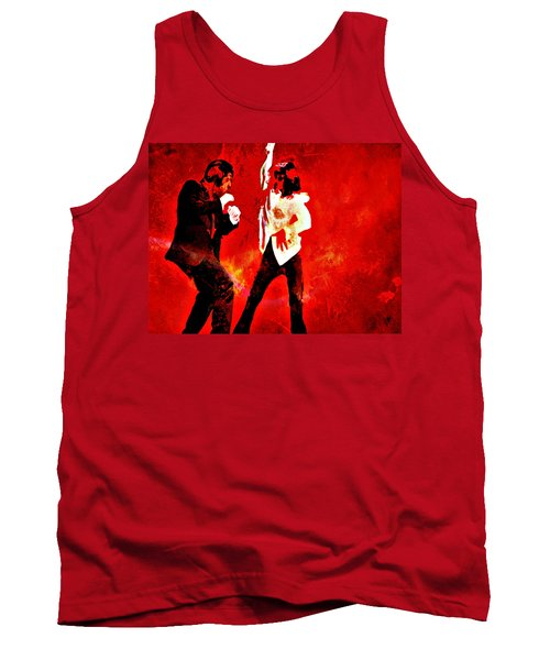 Tank Top featuring the painting Pulp Fiction Dance 2 by Brian Reaves