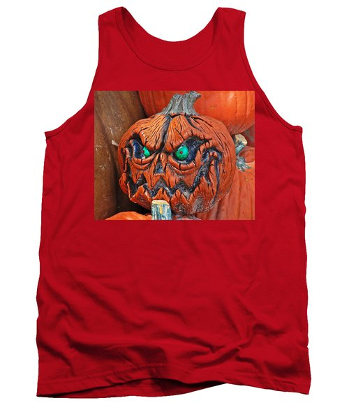 Pumpkin Face Tank Top by Aimee L Maher Photography and Art Visit ALMGallerydotcom