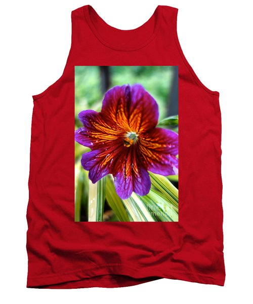 Purple And Orange Tank Top by Jacqueline Athmann